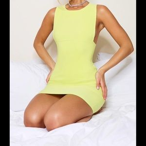 Lime Bodycon Dress - XXS